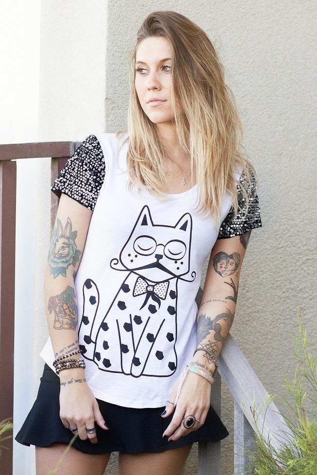 T-Shirt Gato Poá